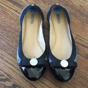 Michael Kors Gray Bow Ballet Flats 7.5 7 1/2